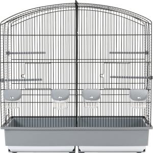 Cage Family 6 Noire/Grise Zolux pour oiseaux
