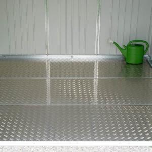 Plaque de fond en aluminium pour abri de jardin Avantgarde - Taille M - 163,5 x163,5 cm