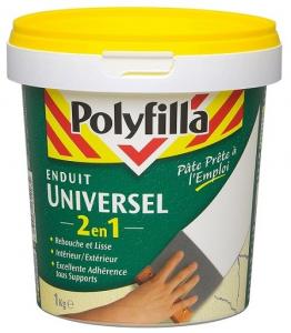 Enduit universel 2 en 1 prêt à l'emploi - Polyfilla - 1 kg