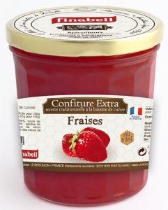 Confiture de fraises au miel - Finabeil - 375 gr