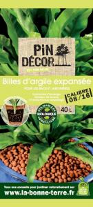 Billes d'argile BIOLANDES PIN DECOR - 8/16 mm 40 L