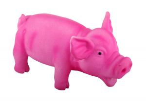 Jouet cochon sonore en latex - 20 cm