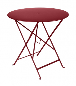 Table pliante Bistro - Fermob - Ø 77 cm - Piment