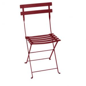 Chaise pliante Bistro - Fermob - Métal - Piment