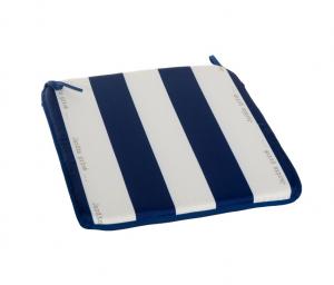 Assise carrée Cancale - Jardin Privé - 40 x 40 x 3 cm - Bleu