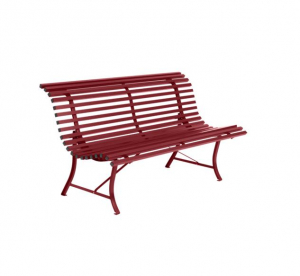 Banc métal Louisiane - Fermob - 150 cm - Rouge Piment