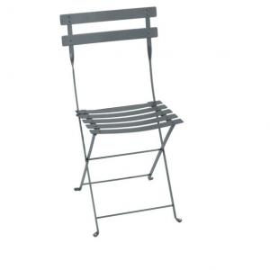 Chaise pliante Bistro - Fermob - Métal - Gris Orage