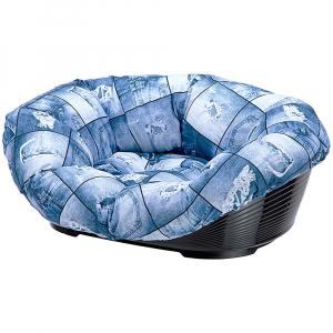 Panier avec coussin Sofa'4 - Ferplast - 64 x 48 x h 25 cm - Jeans