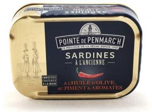Sardines à l'ancienne à l'Huile d'olive, piment et aromates - La Pointe de Penmarc'h - 115 gr