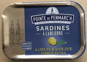 Sardines à l'ancienne à l'huile d'olive vierge extra  - La Pointe de Penmarc'h - 115 gr