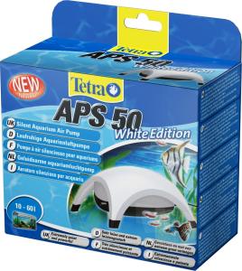 Tetra Pompe à air APS 50 White Edition - Pompe à air silencieuse blanche pour aquarium