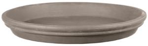 Soucoupe ronde en terre cuite - Deroma - grafite - 27 cm