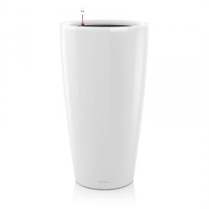 Pot Rondo D 32 - All in One Set - Lechuza - Ø 32 x h 56 cm - Blanc brillant