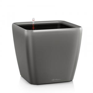 Pot Quadro LS 28 - All in One Set - Lechuza - 28 x28 x h 26 cm - Anthracite métallisé