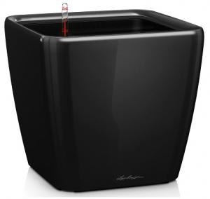 Pot quadro premium LS 28 - Lechuza - Noir brillant