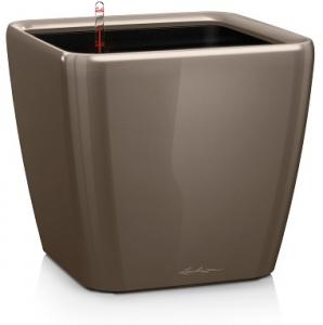 Pot Quadro premium LS 35 - Lechuza - Taupe brillant