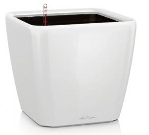 Pot Quadro LS 21 - Lechuza - Blanc brillant