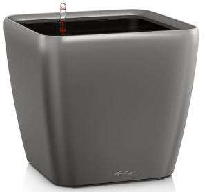 Pot Quadro LS 21 - Lechuza - Anthracite métallisé