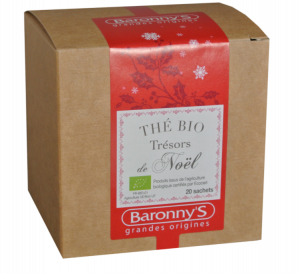 Thé bio Trésor de Noël - 20 sachets - Baronny's