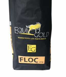 Aliment cheval floconné Equigold Floc - Sac de 25 kg