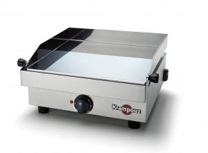 plancha electrique 340 x 340 mm - 1600 W - 230 V - châssis et plaque de cuissoninox - thermostat réglable