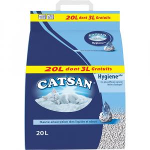 Litière hygiène Catsan - 20 litresdont 3 gratuits