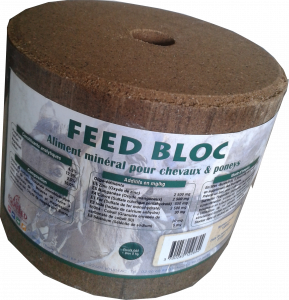 Aliment complément cheval Equifeed Feed Bloc - Pierre à lécher de 5 kg