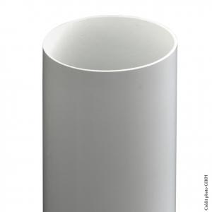 Tube de descente pour gouttière de développé 33 - GIRPI - PVC - Ø 100 mm - 4 ml - Gris