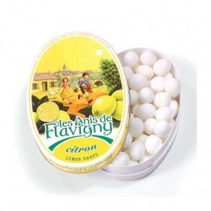 Les anis de Flavigny - Citron - Boite ovale - 50 g