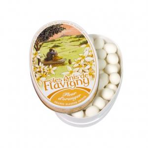 Les anis de Flavigny - Fleur d'oranger - Boite ovale - 50 g