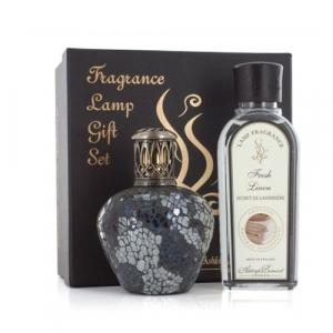 Coffret cadeau lampe à parfum + fragrance - Ashleigh & Burwood - Magnum steel + Linge frais