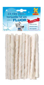 25 sticks torsadés au fluor - Anka - 13 cm