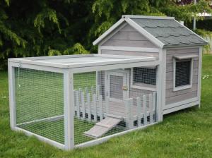 Clapier lapin extérieur - Gris  - Cottage animals