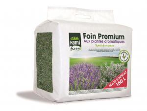 Foin Premium aux plantes aromatiques - Spécial rongeur - Hami Form - 150 L