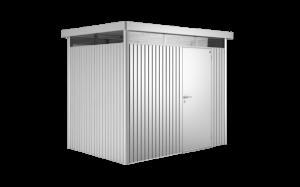Abri de jardin argent métallique - Highline - Porte standard - T2 - 275 x 195 x222 cm