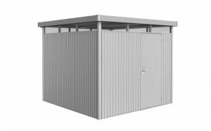 Abri de jardin argent métallique - Highline - Porte standard - Taille 4 - 275 x 275 x 222 cm