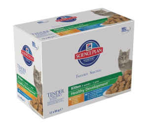 Aliment chat Science Plan Feline Kitten Multipack 2 saveurs - Hill's - 12 x 85 g