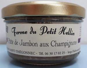 Pâté de jambon aux champignons - La Ferme du Petit Hellin - 140 gr