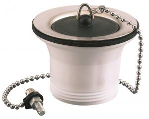 Bonde à bouchon pour évier inox  - Noyon & Thiebault - 40x49 - Ø 70 mm