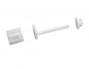 Fixation pour abattant de WC Noyon & Thiebault - Vis nylon 8 x 75 mm à tête carré + glissière