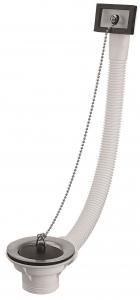 Bonde à bouchon pour évier grès et synthèse avec trop plein - Noyon & Thiebault - 40x49 - Ø 85 mm