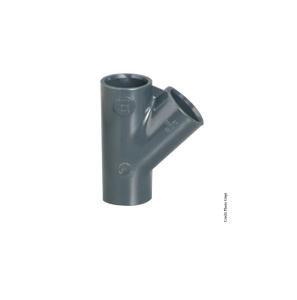 Té simple 45° - GIRPI - PVC - Femelle-Femelle - Ø 32 mm