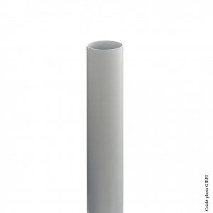 Tube de descente pour gouttière de développé 16 - GIRPI - PVC - Ø 50 mm - 2 ml - Gris