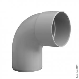 Coude 87°30 pour gouttière développé de 33 - GIRPI - Mâle-Femelle - Ø 100 mm - Gris