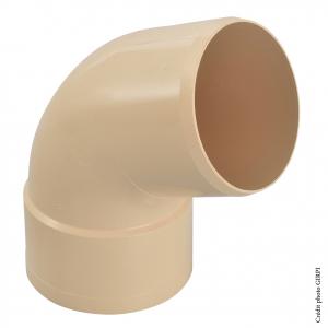 Coude 67°30 pour gouttière développé de 33 - GIRPI - Mâle-Femelle - Ø 100 mm - Sable