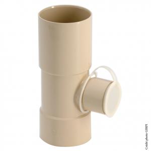 Collecteur d'eau de pluie - GIRPI - PVC - Femelle-Femelle - Ø 80 mm - Sortie Ø 50 mm - Sable