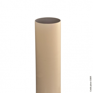 Tube de descente pour gouttière de développé 25 - GIRPI - PVC - Ø 80 mm - 2,80 ml - Sable