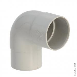 Coude 87°30 pour gouttière développé de 16 - GIRPI - Mâle-Femelle - Ø 50 mm - Gris