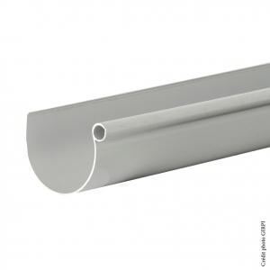 Gouttière demi-ronde développé 16 - GIRPI - 4 m - Gris - Vendu au mètre linéaire
