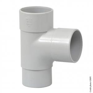 Culotte 87°30 pour gouttière développé 16 - GIRPI - Mâle-Femelle - Ø 50 mm - Gris